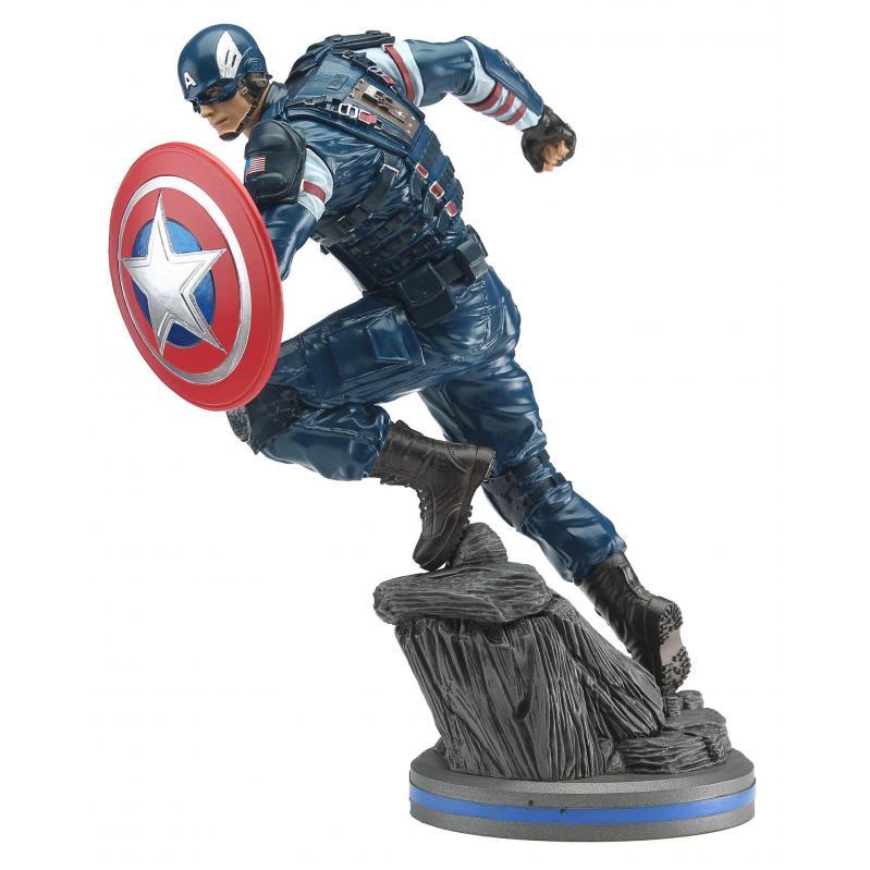 PCS Collectibles - Marvel Gamerverse Avengers: Captain America 1/10 PVC Statue (JUN209126) 656793638304