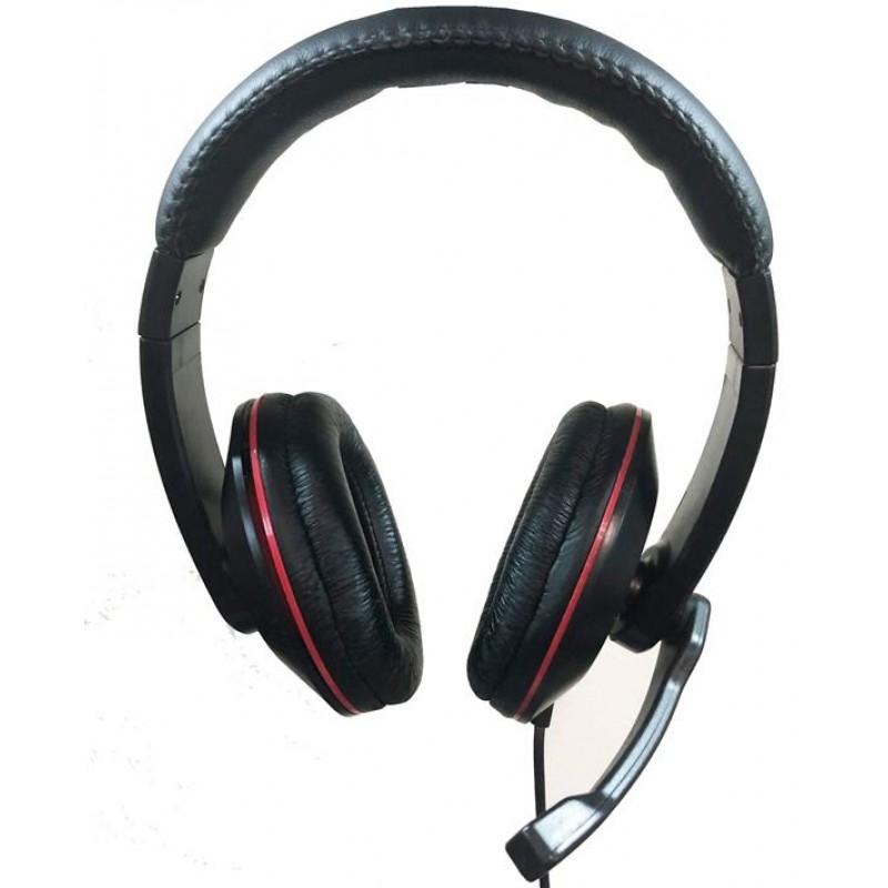 PC jedel  Gaming Headphones Headset black usb with controler hr-540  bulk