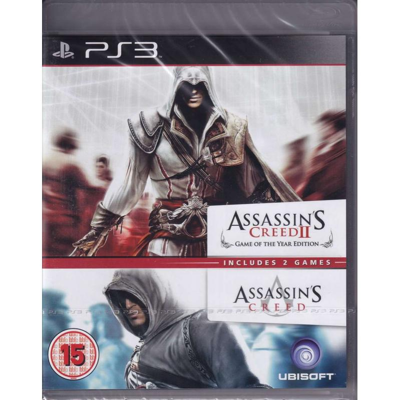 Assassins Creed 1 & 2 Compilation (BBFC) PS3 (CRD) 53644