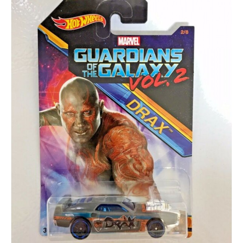 HOT WHEELS CAR MARVEL GUARDIANS OF THE GALAXY VOL.2 - DRAX RIVITED (DWD73)