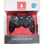PS3 SPARTAN GEAR WIRELESS SIX-AXIS BLUETOOTH CONTROLLER BLACK (ANALOG TRIGGERS)