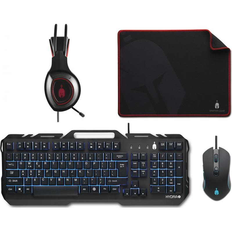 Spartan Gear Hydra 2  Gaming Combo (Keyboard,mouse,headset,mousepad) for PC