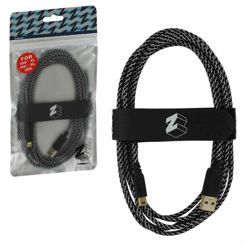 3DS ZedLabz Ultra 3M USB Gold Plated Charge Cable (Nintendo 3DS, 2DS and DSi) -3DS (CRD) 51646
