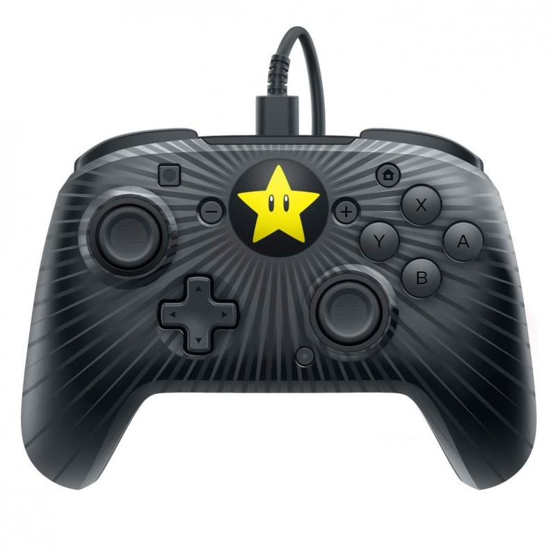 Faceoff Wired Pro Controller – Super Mario Star Edition Switch