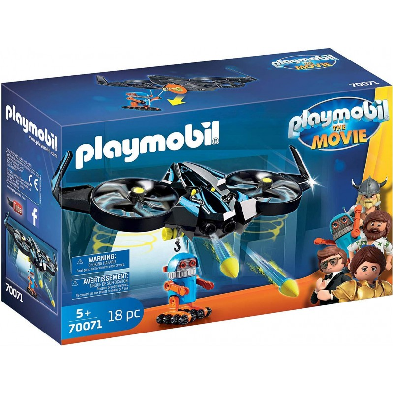 Playmobil - THE MOVIE Robotitron with Drone -Toys 70071