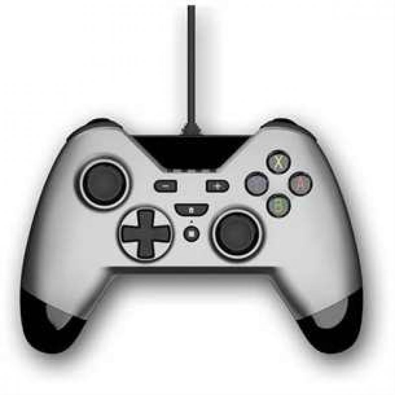 Gioteck WX4 Wired Silver Controller (SWITCH, PS3 and PC)