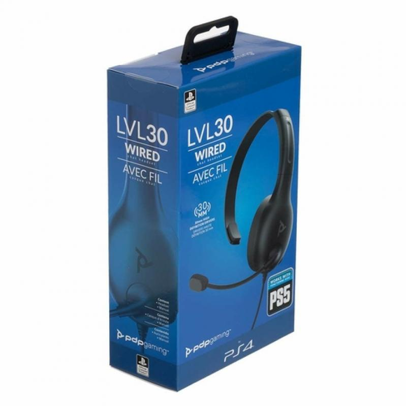 PDP LVL30 Wired Stereo Gaming Headset (Black) - PS4
