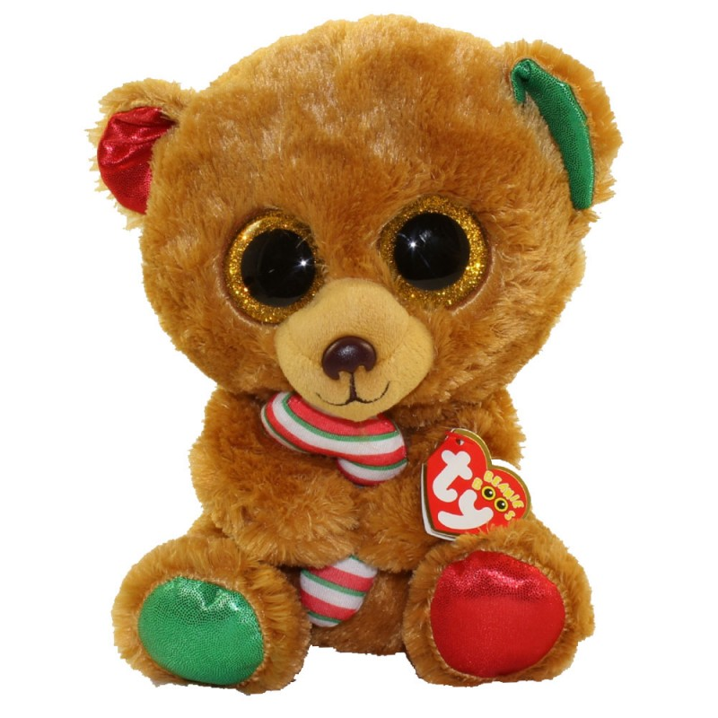 TY Beanie Boos - Bella the Christmas Bear Plush Toy (23cm) (1607-37251)