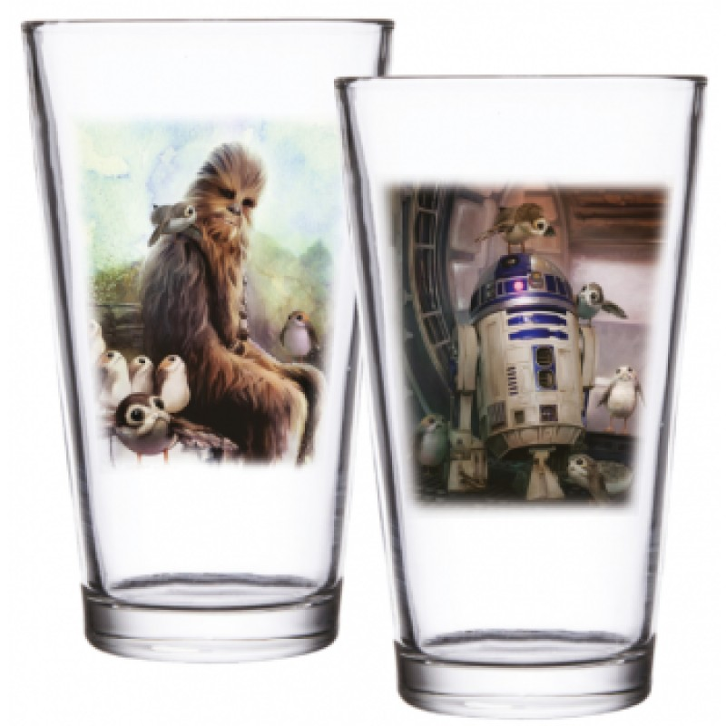 Star Wars - Chewbacca AND R2-D2 Set of 2 Pint Glass Set 473ml (SW05368)