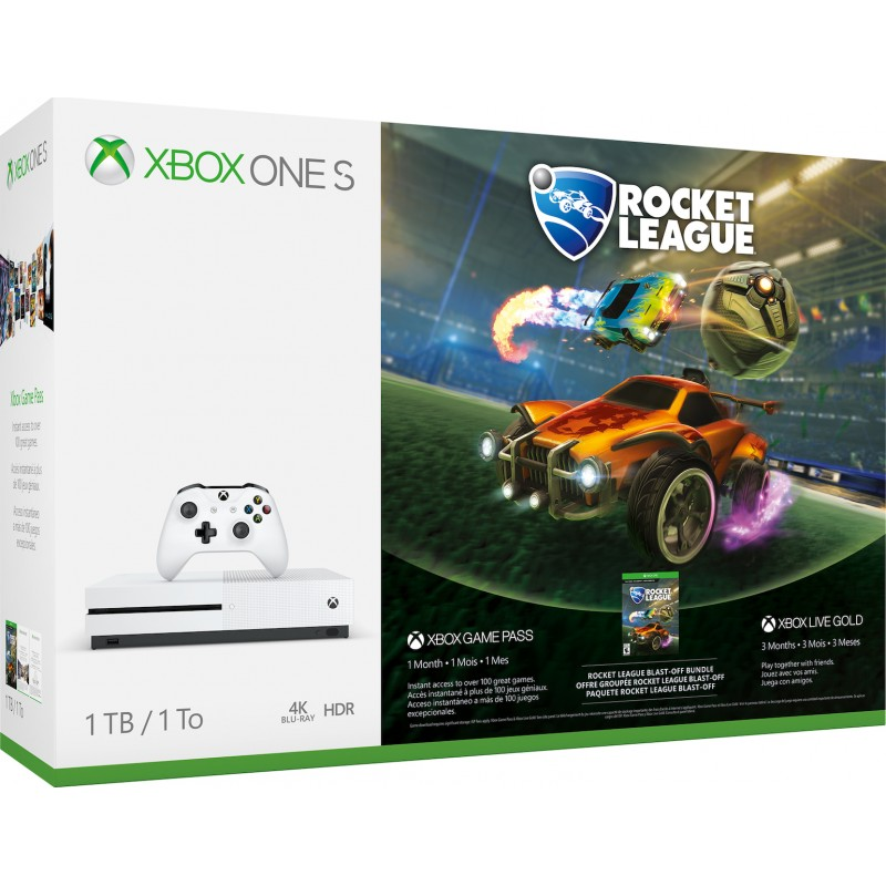 XBOX1 Microsoft Xbox One S Console 1TB and Rocket League