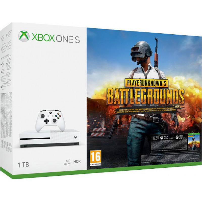 XBOX1 Microsoft Xbox One S Console 1TB and Playerunknown's Battlegrounds