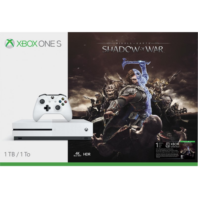 XBOX1 Microsoft Xbox One S Console 1TB and Shadow of War
