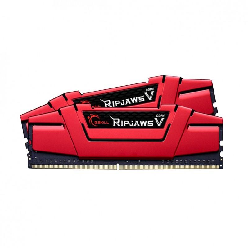 G.Skill RipJaws V Series- DDR4-3200- CL15 - 16 GB Dual-Kit- rot F4-3200C15D-16GVR (casek) 48820