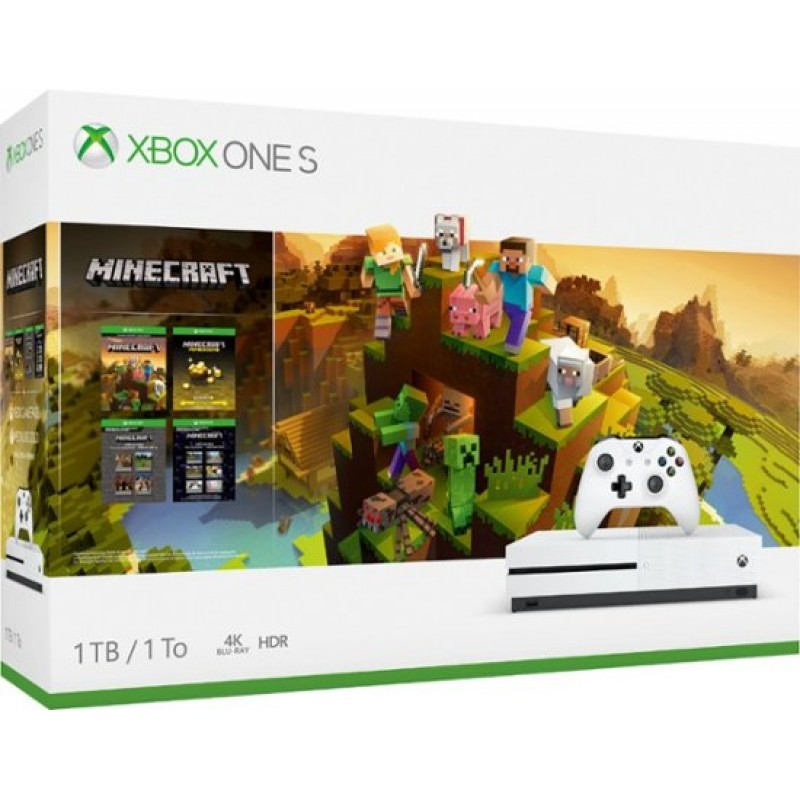 Microsoft Xbox One Slim 1TB with Minecraft Collection - White