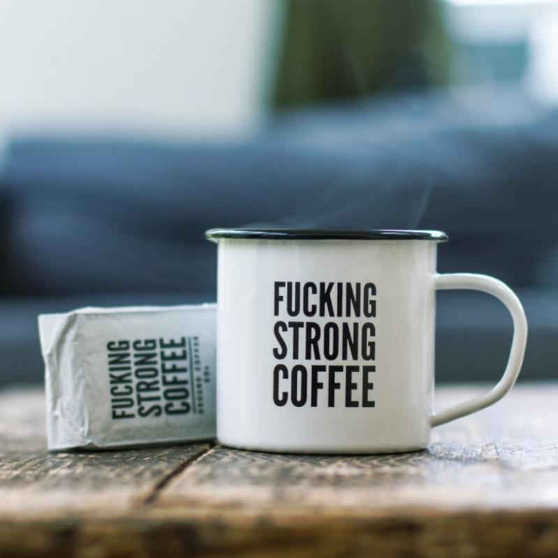 F*cking Strong Coffee & Mug Set -Material:enamel
