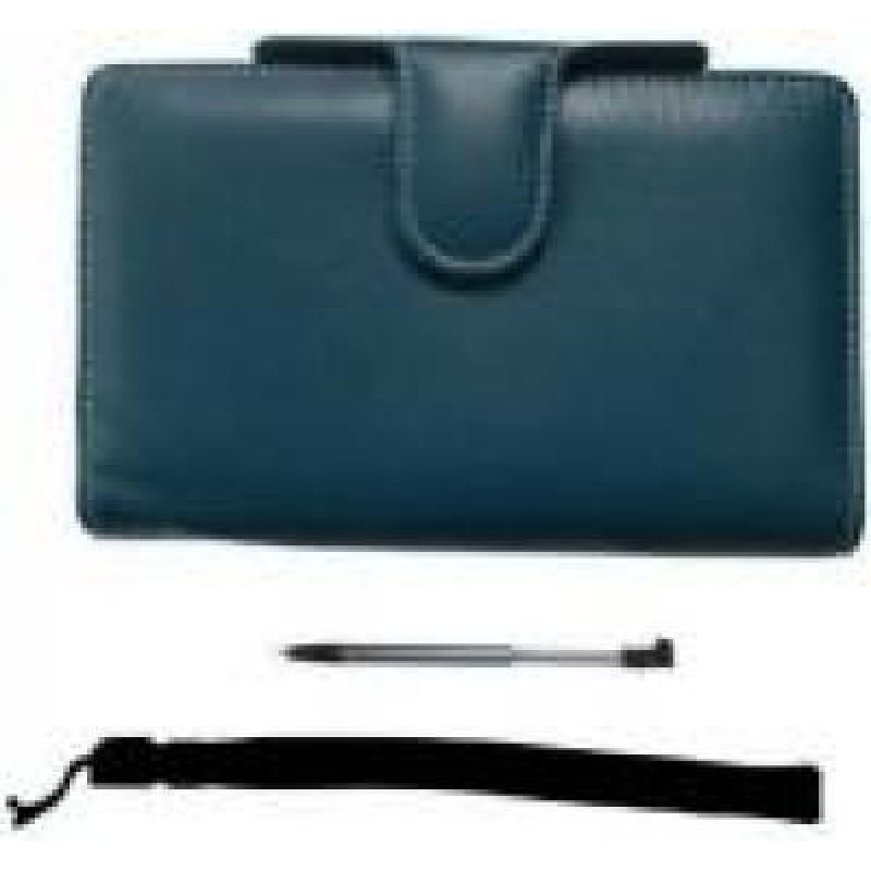 3DS PAIRandGO NINTENDO 3DS LUXURY PROTECTOR CASE ACCESSORY PACK BLUE AND STYLUS AND WRIST STRAP