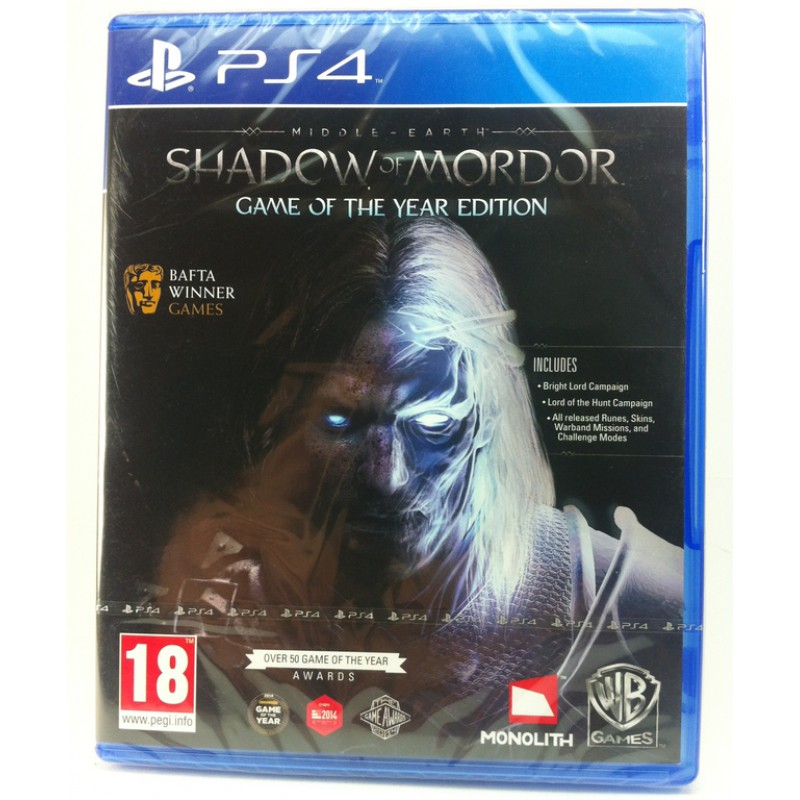PS4 MIDDLE - EARTH : SHADOW OF MORDOR GAME OF THE YEAR EDITION