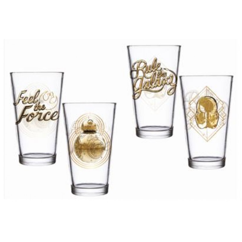 Star Wars -  Rule The Galaxy   Feel The Force Set of 2 Glass - SW05367