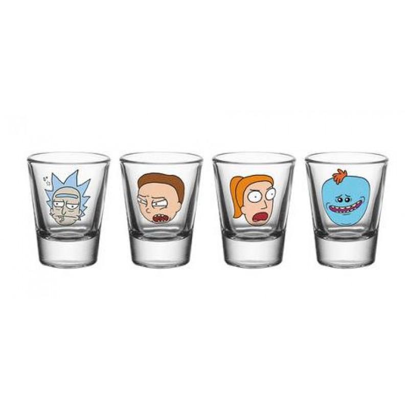 Rick and Morty -  Faces 4x Shot Glasses - GLA0077