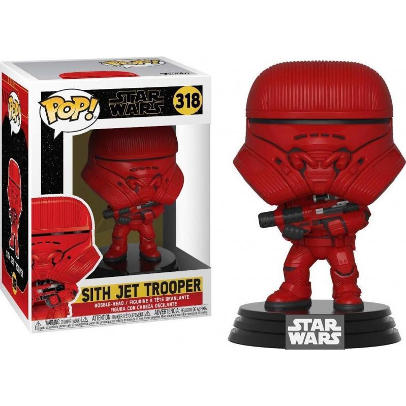 Funko POP! Star Wars Ep 9 - Sith Jet Trooper #318 Bobble-Head Vinyl Figure