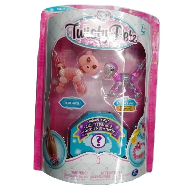 Spin Master - Twisty Petz Three Pack Figures Serie 2 - Tickles Tiger and Pixiedust Puppy (20104383)