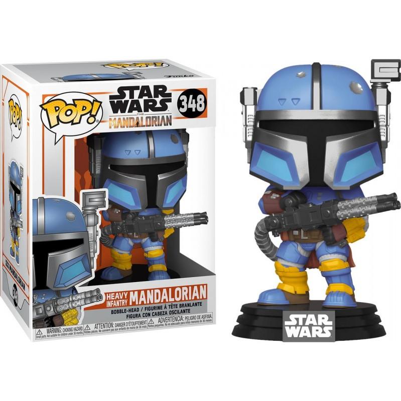 Funko POP Star Wars: The Mandalorian - Heavy Infantry Mandalorian (MT) 348 Bobble-Head Vinyl Figure 889698455404