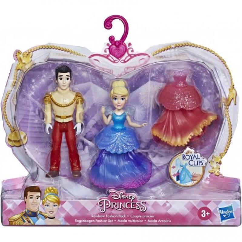 Hasbro Disney Princess: Royal Clips - Cinderella and Prince Charming Rainbow Fashion Pack (E9055)