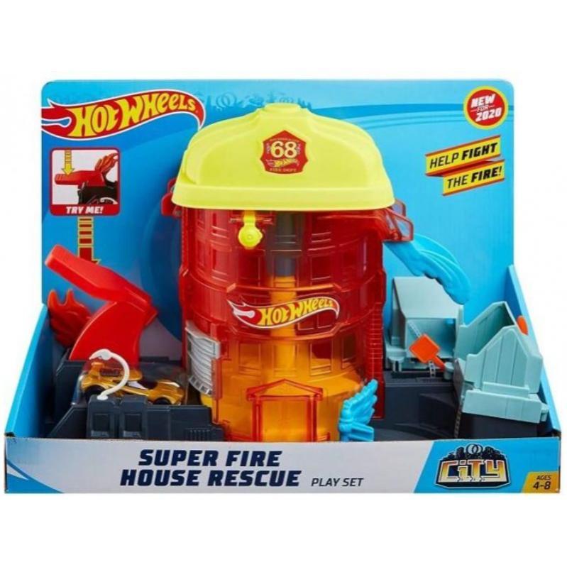 Hot Wheels City - Super Fire House Rescue Play Set (GJL06)