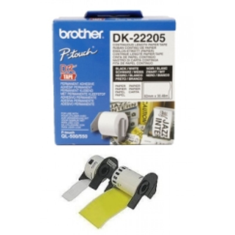 Consumable for printers BROTHER DK-22205 Roll White Continuous Length Paper Tape DK22205