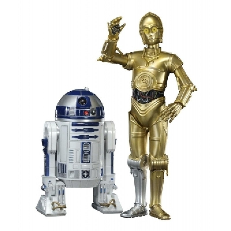 STAR WARS - C-3PO AND R2-D2 2-PACK ARTFX AND STATUE (18cm)