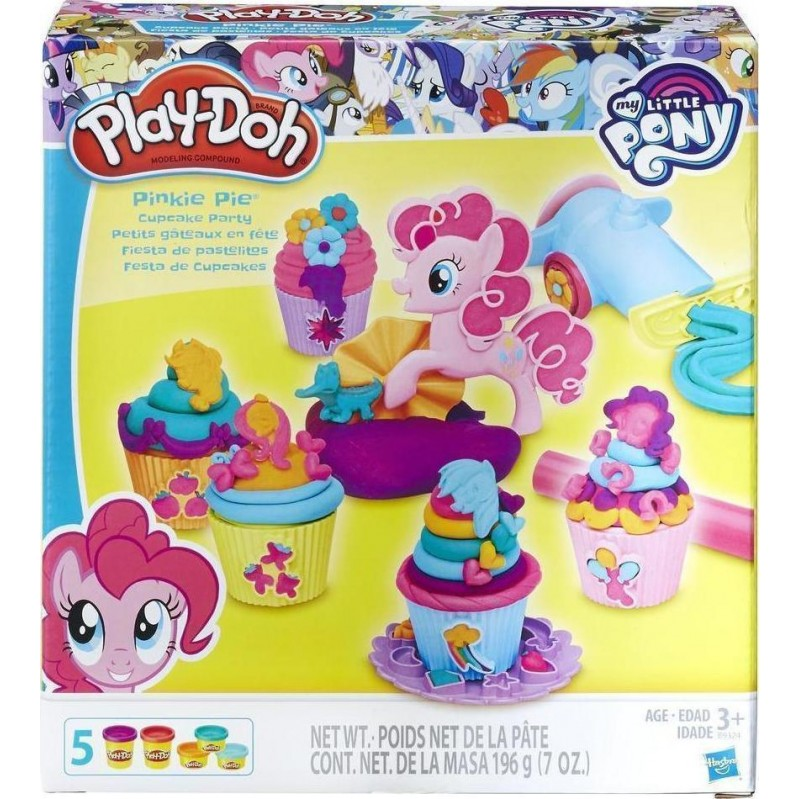 HASBRO PLAY-DOH PONY PINKIE PIE - CUPCAKE PARTY DULCES PASTELES PONY (B9324EU4)