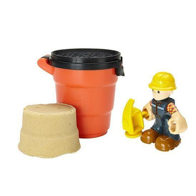 Fisher Price Bob the Builder - Woodworker Bob Action Figure - Includes Moldable Playsand (DYT91)